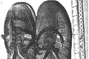 The feet were found in these trainers.