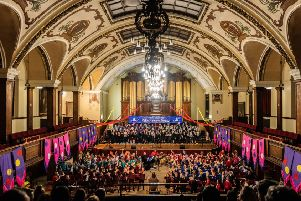 Youngsters raise the roof at Lancaster's annual schools' singing festival