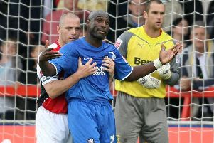 Jim Bentley and Sol Campbell did not get this close last weekend