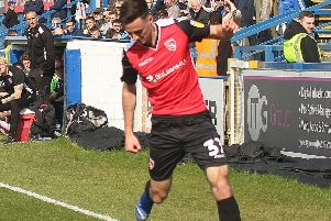 Aaron Collins gave Morecambe the lead