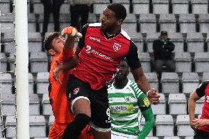Vadaine Oliver cambe back from injury for Morecambe