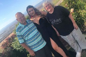 Jean and Peter Yates with their granddaughter Ellie Holmes on her prom day.
