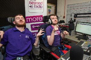Luke & Adam Stutchbury, part of the regular presenting team and Lancaster & Morecambe's Beyond Radio. (Photo credit ' Recognition PR)