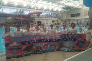 Galloways swim team helped raise hundreds of pounds for the sight loss charity.