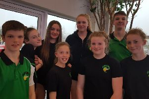 Some of the young Garstang swimmers
