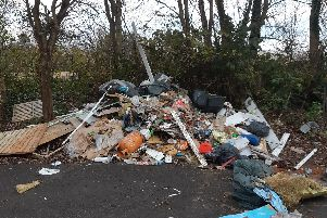 The fly-tipping at Heysham