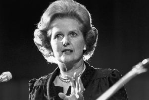 Margaret Thatcher was confronted by protesters when she visited Fleetwood