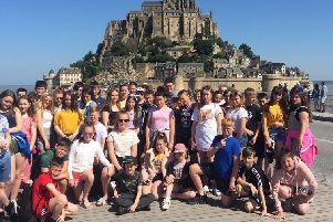 Bay Leadership Academy pupils during their Normandy trip.