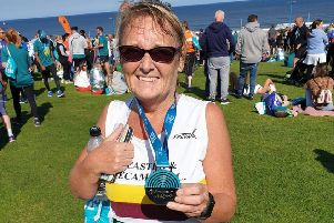 Susan Hodgson completed the Great North Run.