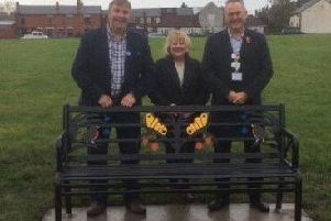 The new bench is unveiled