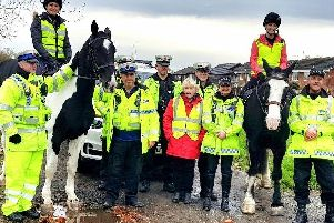 GMP's Mounted Unit doing a Safer Pass initiative in Lowton