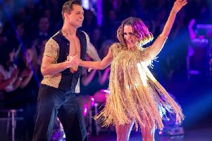 Caroline Flack on Strictly Come Dancing in 2014