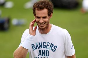 Andy Murray was positive about his fitness ahead of the start of Wimbledon