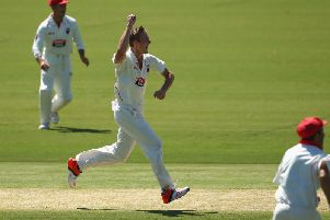 Mennie in action for the Sheffield Shield