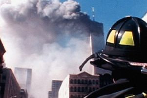 A haunting image of the September 11 attacks in 2001