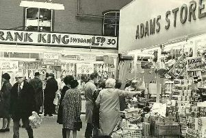 Inside Wigan Market in the 60s