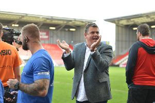 Derek Beaumont 'was happy to avoid some of the limelight' during happier times for Leigh Centurions. Picture: Paul McCarthy