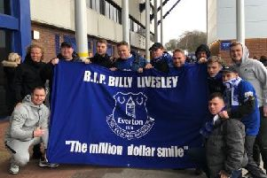 Billy's family at Goodison Park