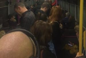 Passengers were asked to leave the train due to overcrowding