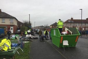 Tonnes of waste was cleared away from the streets thanks to the efforts of local residents and their councillors
