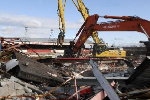 Demolition work at Hilton Park
