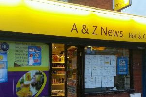 A to Z News on Wigan Road in Westhoughton which was hit by an early hours raid