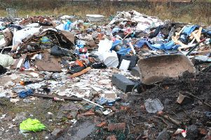 Fly-tipped waste in Norley in 2018