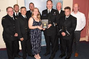 Members of the HM Coastguard team in Lancashire went home with The Blue Light Award after the ceremony