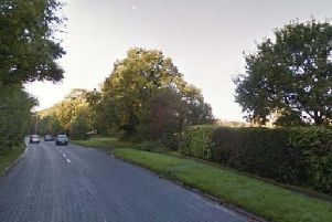 The view to the site along Lightfoot Lane
