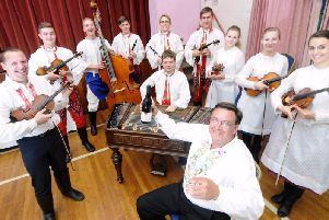 Czech band Notecka perform at a food and wine evening for Preston Arts Festival at a previous Preston Arts festival