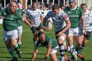 Match action from Preston Grasshoppers' clash against Scunthorpe'Photo: Mike Craig