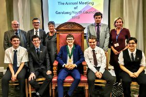 Garstang Young Mayor Declan Stephen (pictured centre) Photo:Lynn Harter
