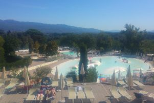 Some of the pools at Norcenni Girasole, Italy