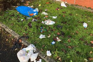 A number of rubbish bags were found dumped in the empty car park this morning (October 10)
