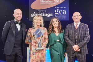 Emily Coxhead, owner of The Happy Newspaper, has won best licensed card range at The Henries