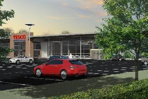 An artist's impression of the Tesco site in Penwortham