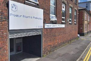 Preston Board and Packaging Limited in Green Bank Street, Preston (Image: Google)