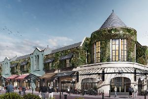 An Impressio of how the new restaurant quater at St George's would look