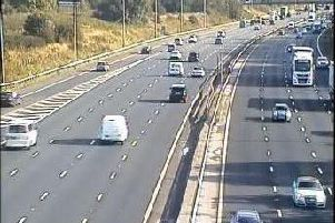 The M6 northbound, between junctions 33 and 32, was reduced to just two lanes this morning (October 17) after Highways began emergency repairs on the road surface
