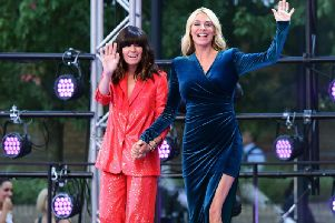 Strictly hosts Claudia Winkelmann and Tess Daly
