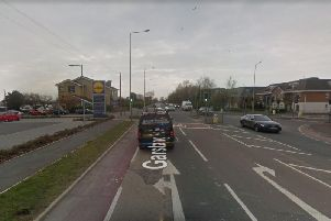 An elderly woman has been taken to hospital after being injured in a crash in Garstang Road East in Poulton this afternoon (October 18). Pic: Google Maps