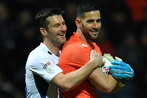 David Nugent ' pictured with Leeds keeper Francisco Casilla ' is in his second spell with Preston