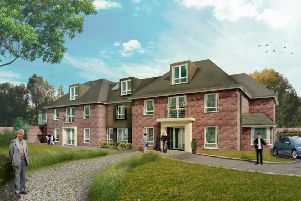 An artist's impression of the new Ashton Manor care home in Lancaster.