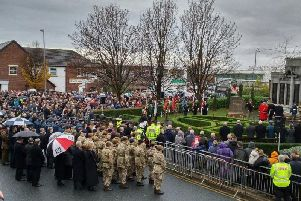 Last year's Remembrance Day at Leyland Cenotaph