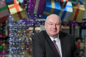Centre manager Keith Mitchell, pictured with previous Christmas lights in the centre