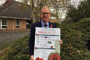 Professor Steve Grigg says a thank you is due to all the Woodplumpton residents and businesses who have supported the There But Not There Remembrance campaign.