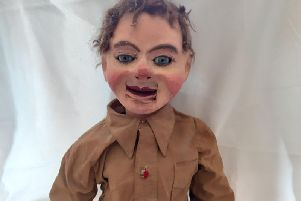 Here is my own satirical 1930s dummy, modelled on the Hitler Youth and definitely not for sale!