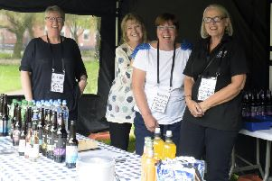 One of the many Friends' events. Patricia Harrison, chair of the Friends, is pictured second from left.