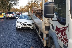 The incident happened on East Park Drive on Wednesday afternoon. Picture: Lancashire Road Police.