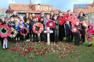 Mereside Primary held a moving Remembrance service with local care home residents